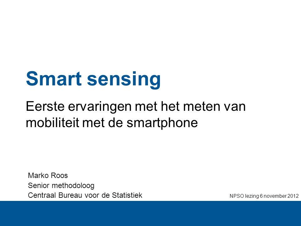 Eerste ervaringen met het meten van mobiliteit met de smartphone