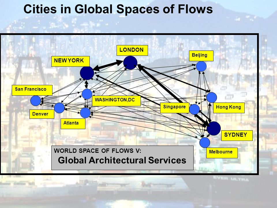 Cities in Global Spaces of Flows Global Architectural Services