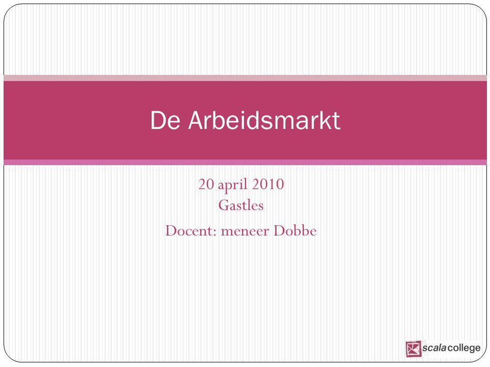 20 april 2010 Gastles Docent: meneer Dobbe