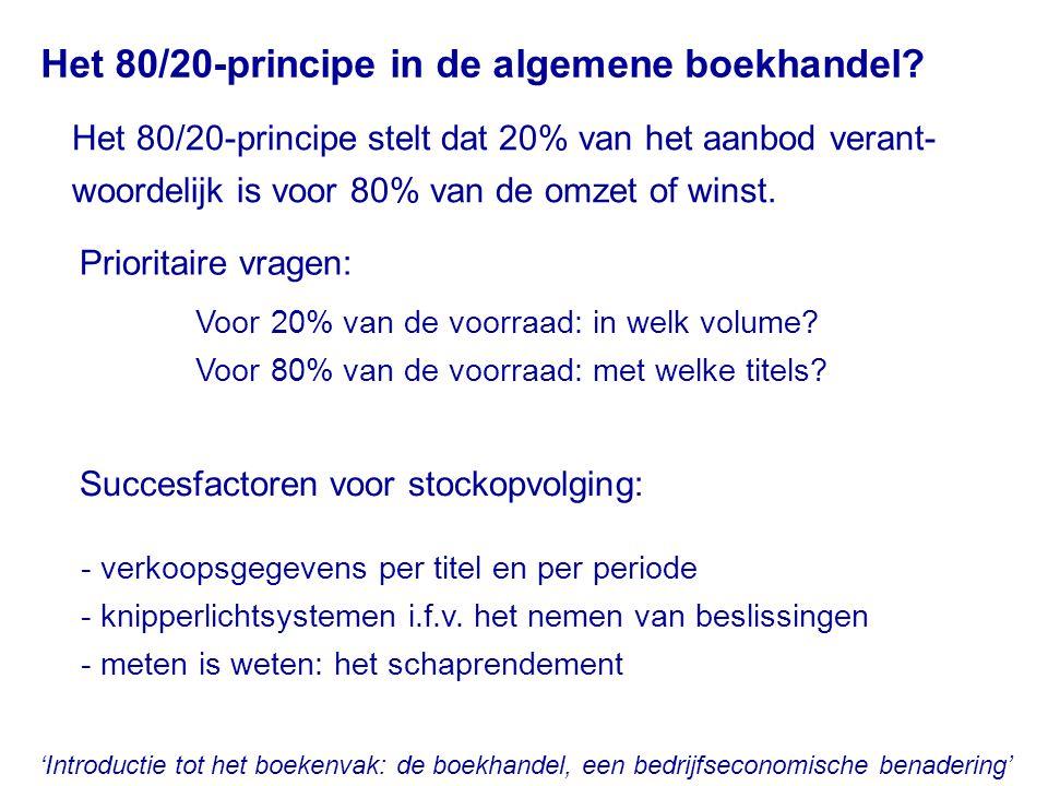 Het 80/20-principe in de algemene boekhandel