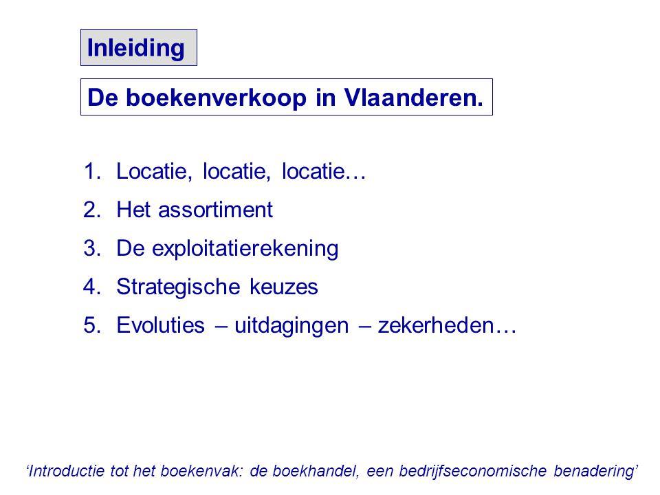 De boekenverkoop in Vlaanderen.
