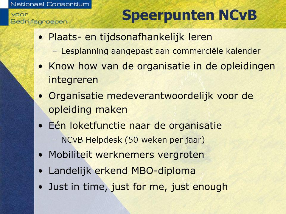 Speerpunten NCvB Plaats- en tijdsonafhankelijk leren