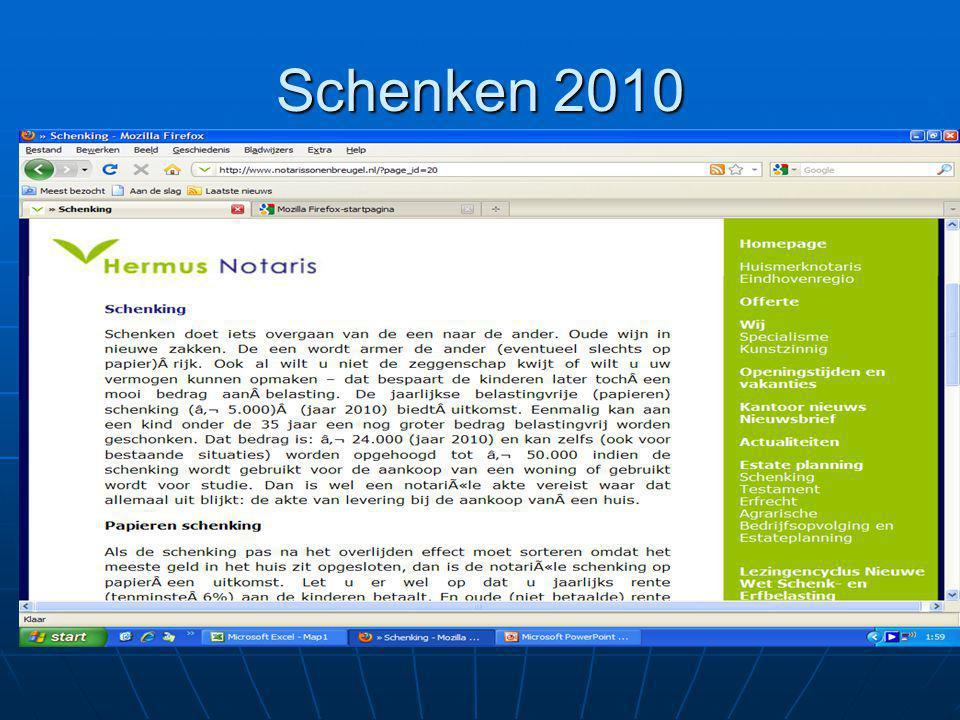 Schenken 2010