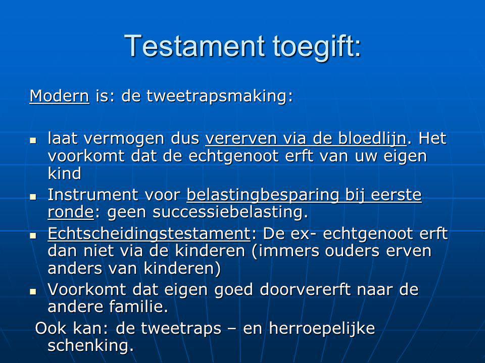 Testament toegift: Modern is: de tweetrapsmaking: