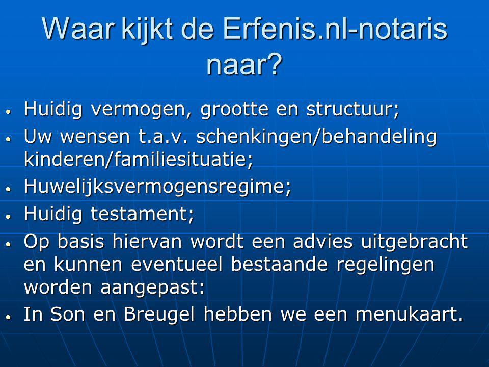 Waar kijkt de Erfenis.nl-notaris naar