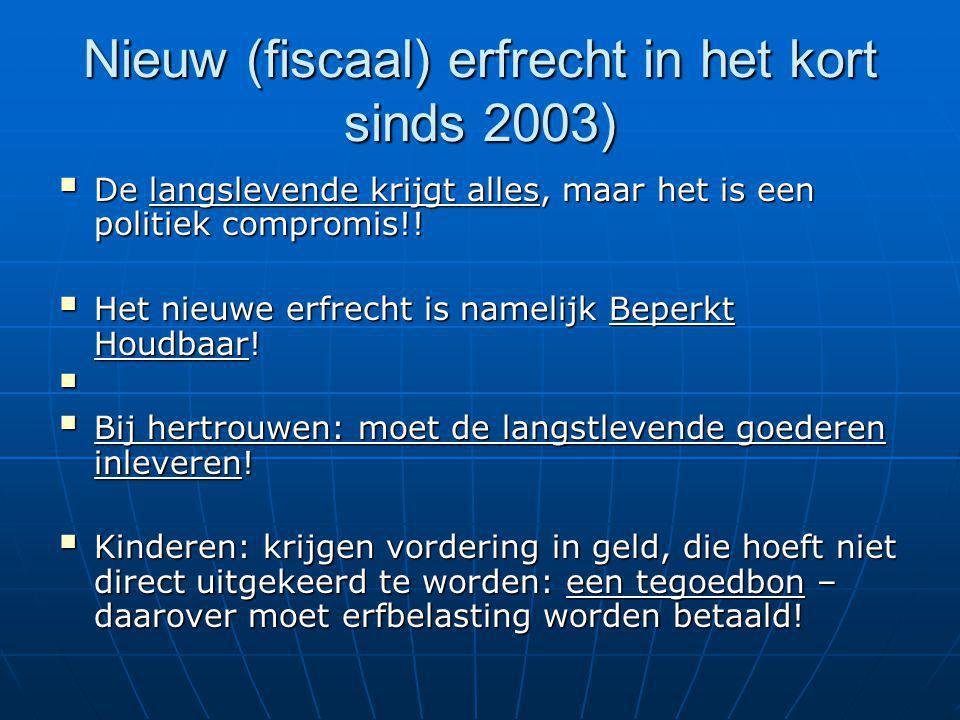 Nieuw (fiscaal) erfrecht in het kort sinds 2003)