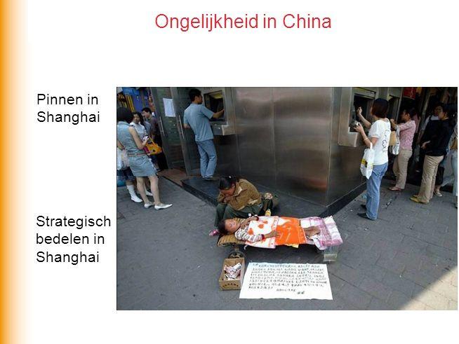 Ongelijkheid in China Pinnen in Shanghai