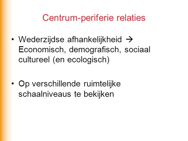 Centrum-periferie relaties