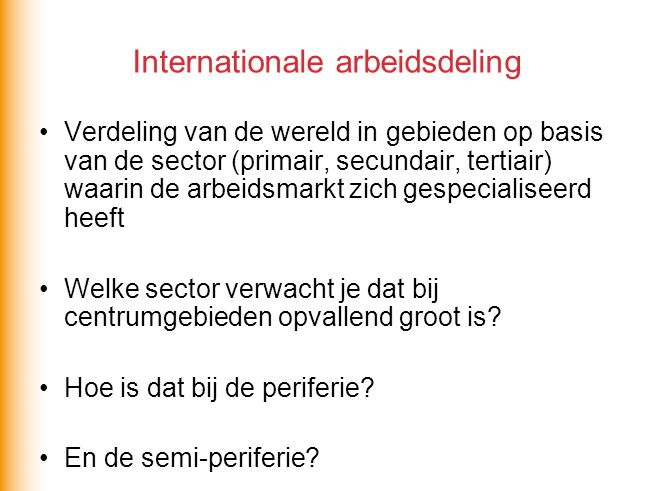 Internationale arbeidsdeling