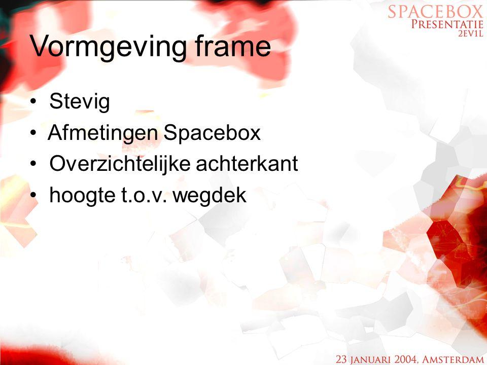 Vormgeving frame Stevig Afmetingen Spacebox Overzichtelijke achterkant