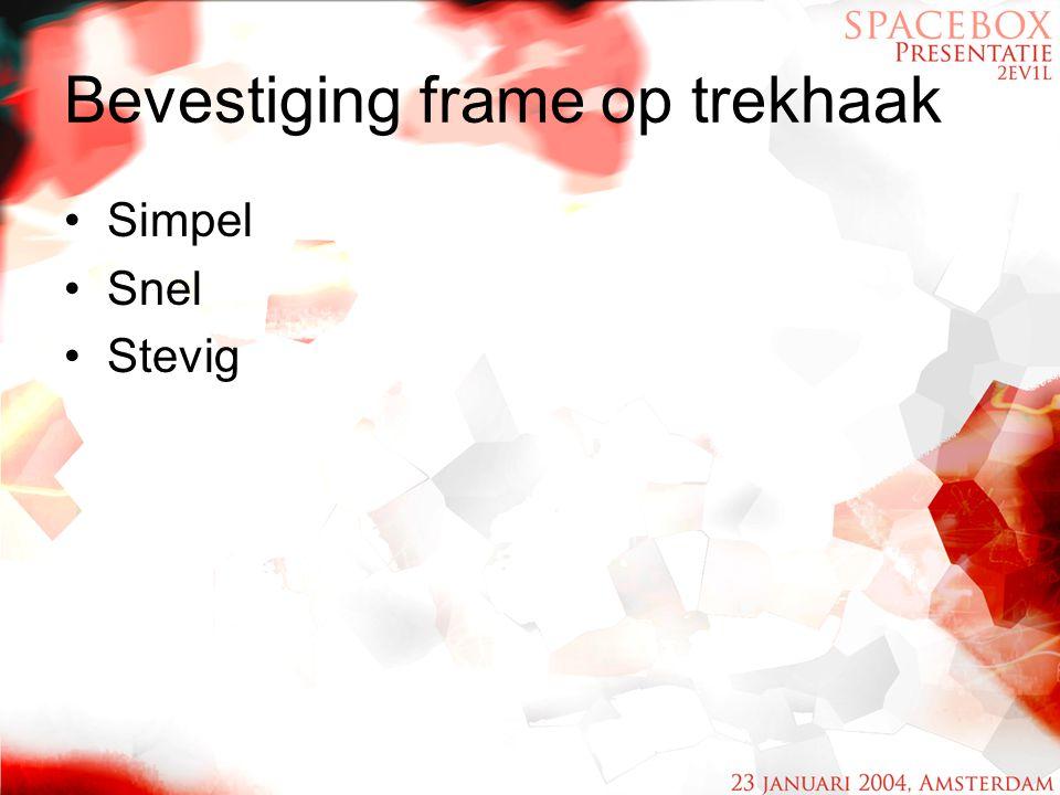 Bevestiging frame op trekhaak
