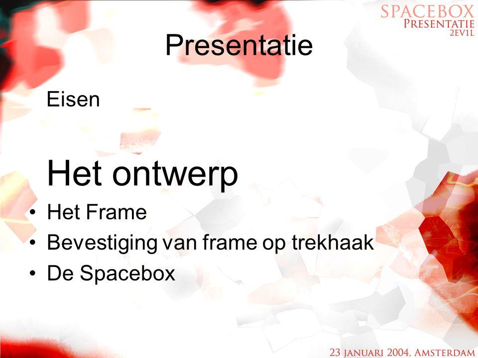 Presentatie Eisen Het ontwerp Het Frame