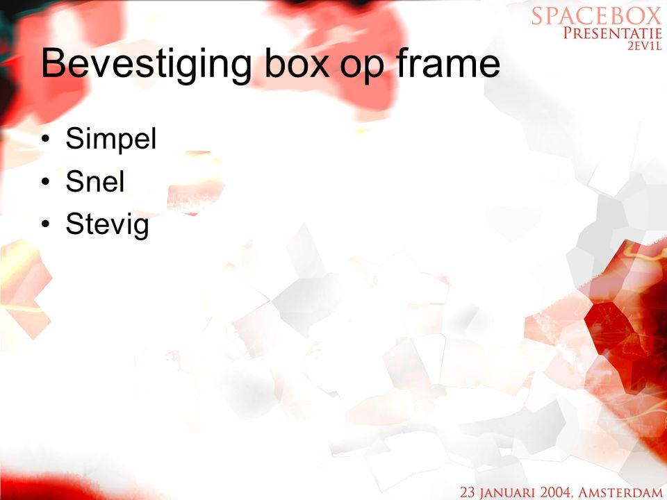 Bevestiging box op frame