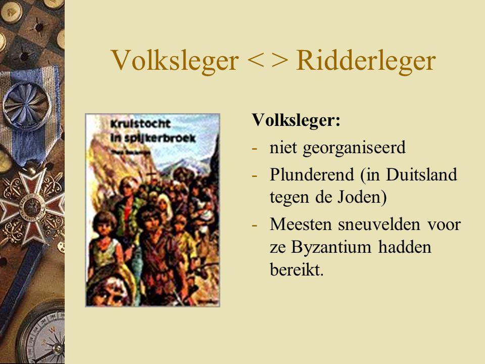 Volksleger < > Ridderleger