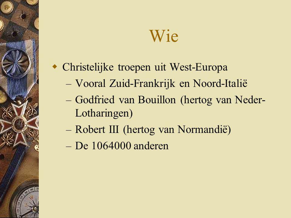 Wie Christelijke troepen uit West-Europa