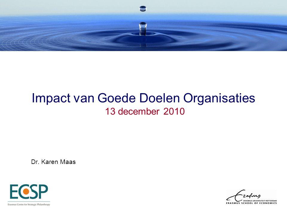 Impact van Goede Doelen Organisaties 13 december 2010