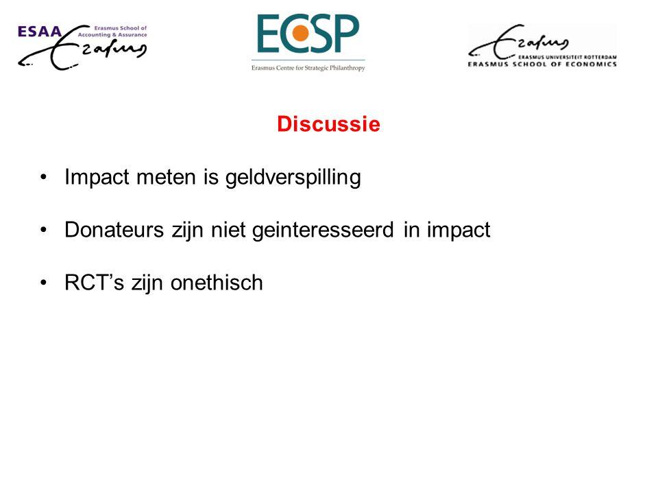 Discussie Impact meten is geldverspilling. Donateurs zijn niet geinteresseerd in impact.