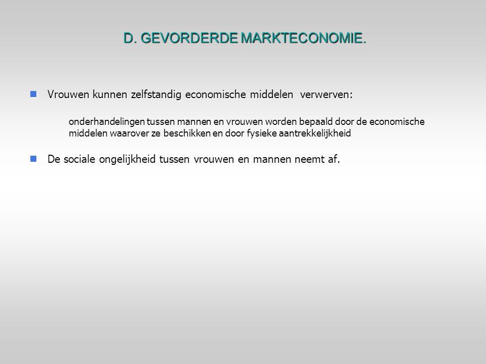 D. GEVORDERDE MARKTECONOMIE.