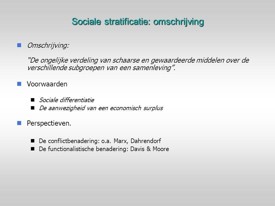 Sociale stratificatie: omschrijving