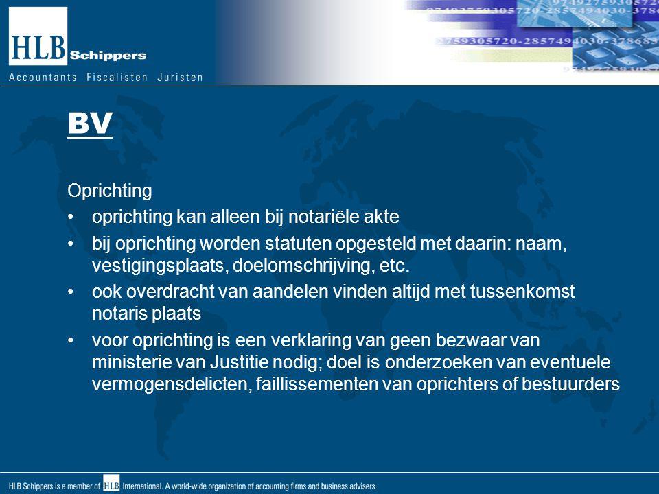 BV Oprichting oprichting kan alleen bij notariële akte