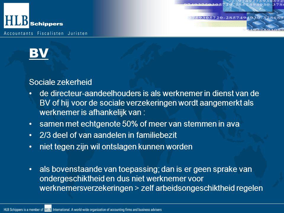 BV Sociale zekerheid.