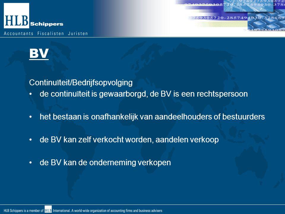 BV Continuïteit/Bedrijfsopvolging