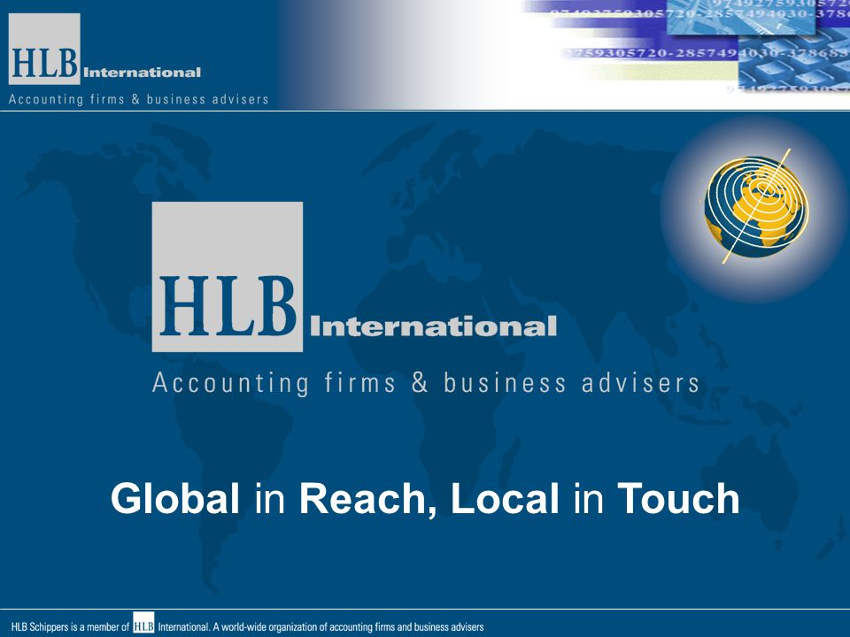 Global in Reach, Local in Touch