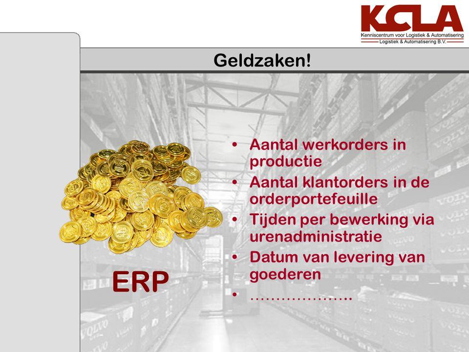 ERP Geldzaken! Aantal werkorders in productie