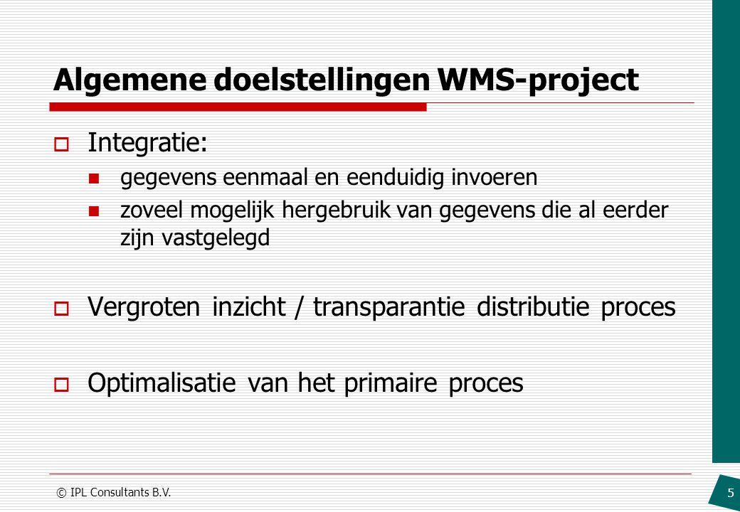 Algemene doelstellingen WMS-project