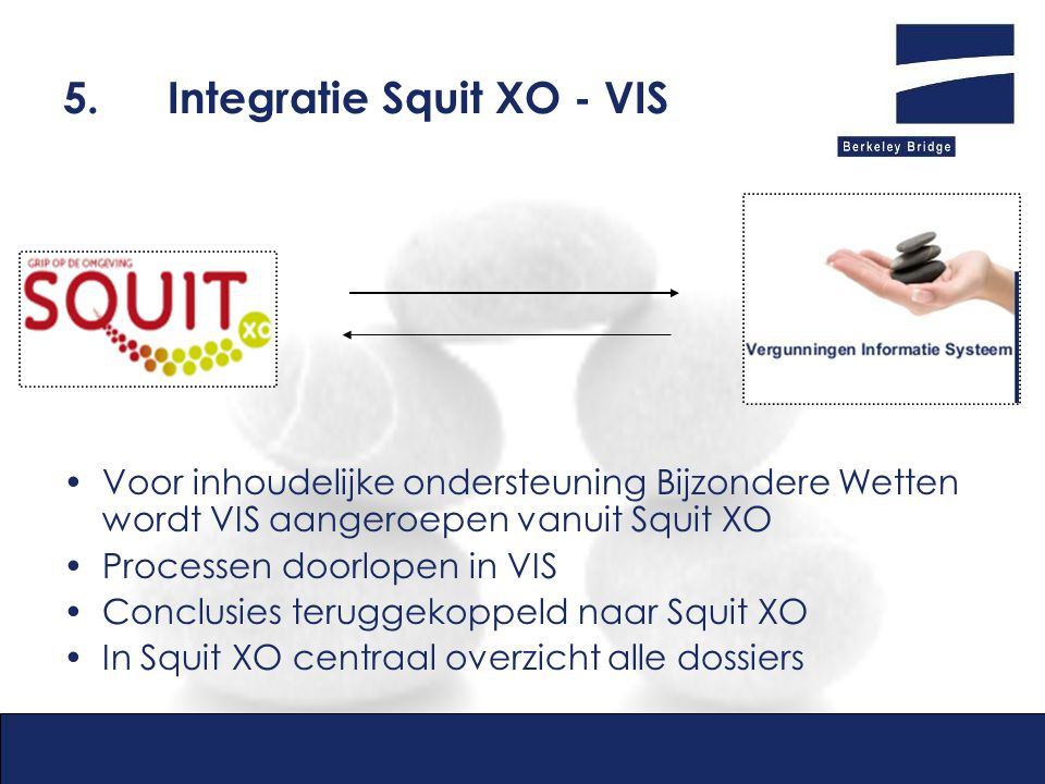 5. Integratie Squit XO - VIS