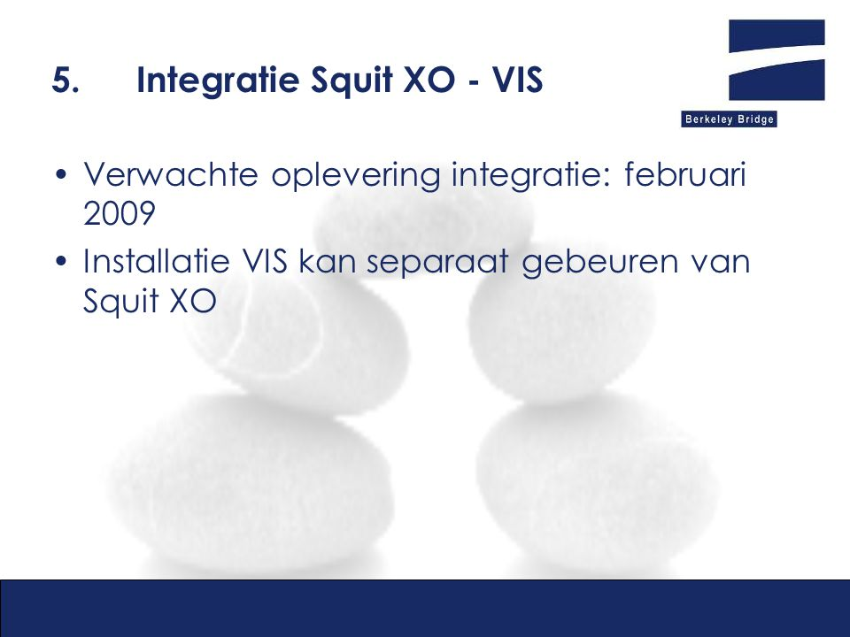 5. Integratie Squit XO - VIS