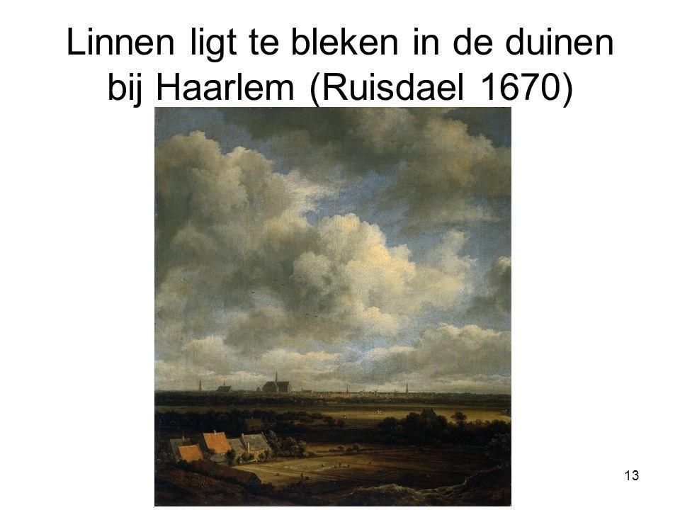 Linnen ligt te bleken in de duinen bij Haarlem (Ruisdael 1670)