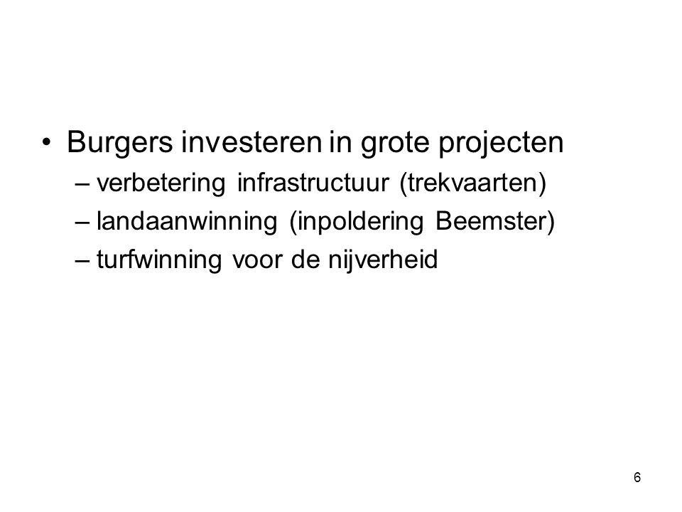 Burgers investeren in grote projecten