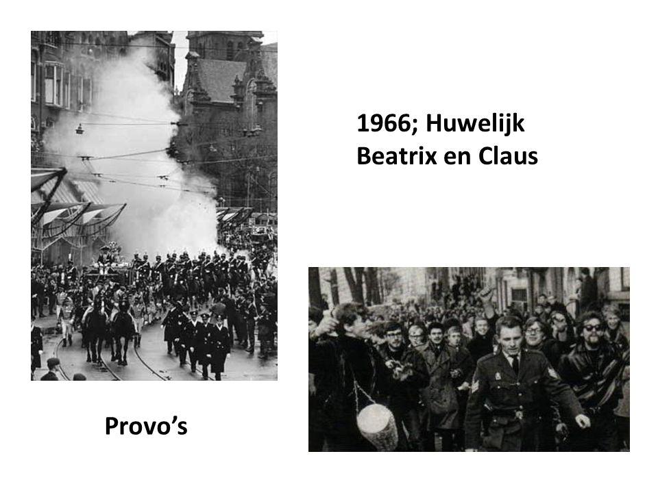 1966; Huwelijk Beatrix en Claus Provo's
