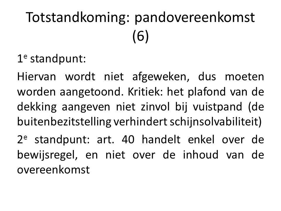 Totstandkoming: pandovereenkomst (6)