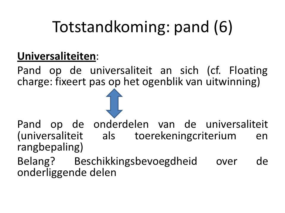 Totstandkoming: pand (6)