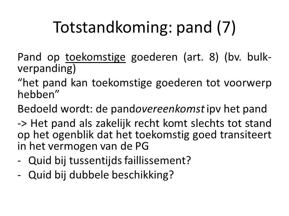 Totstandkoming: pand (7)