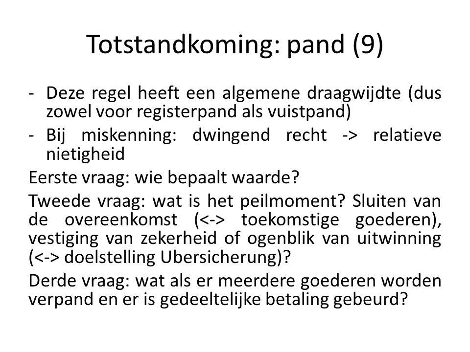 Totstandkoming: pand (9)