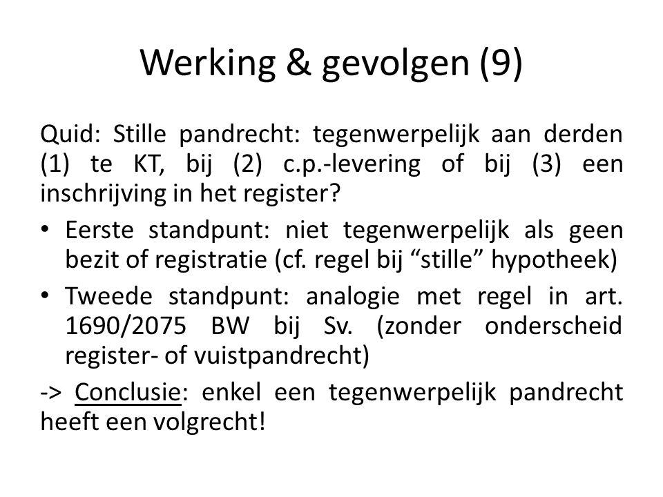 Werking & gevolgen (9)