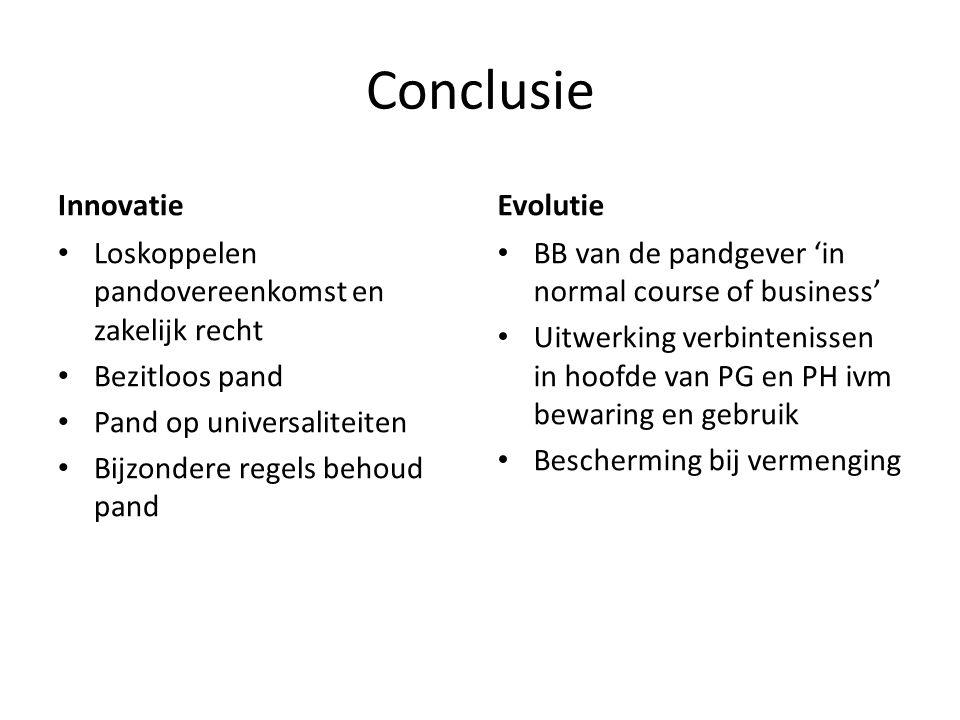 Conclusie Innovatie Evolutie