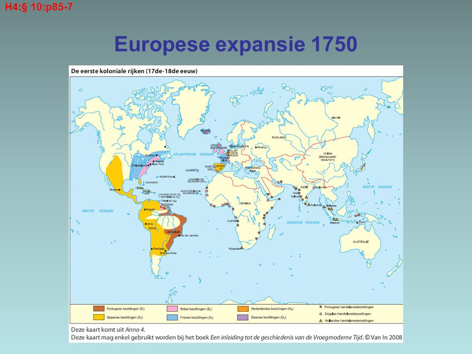 H4:§ 10:p85-7 Europese expansie 1750