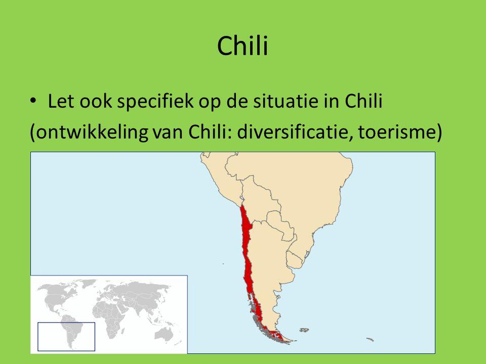Chili Let ook specifiek op de situatie in Chili
