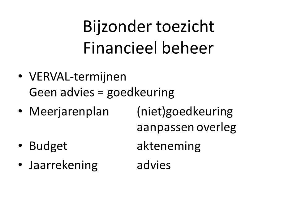 Bijzonder toezicht Financieel beheer