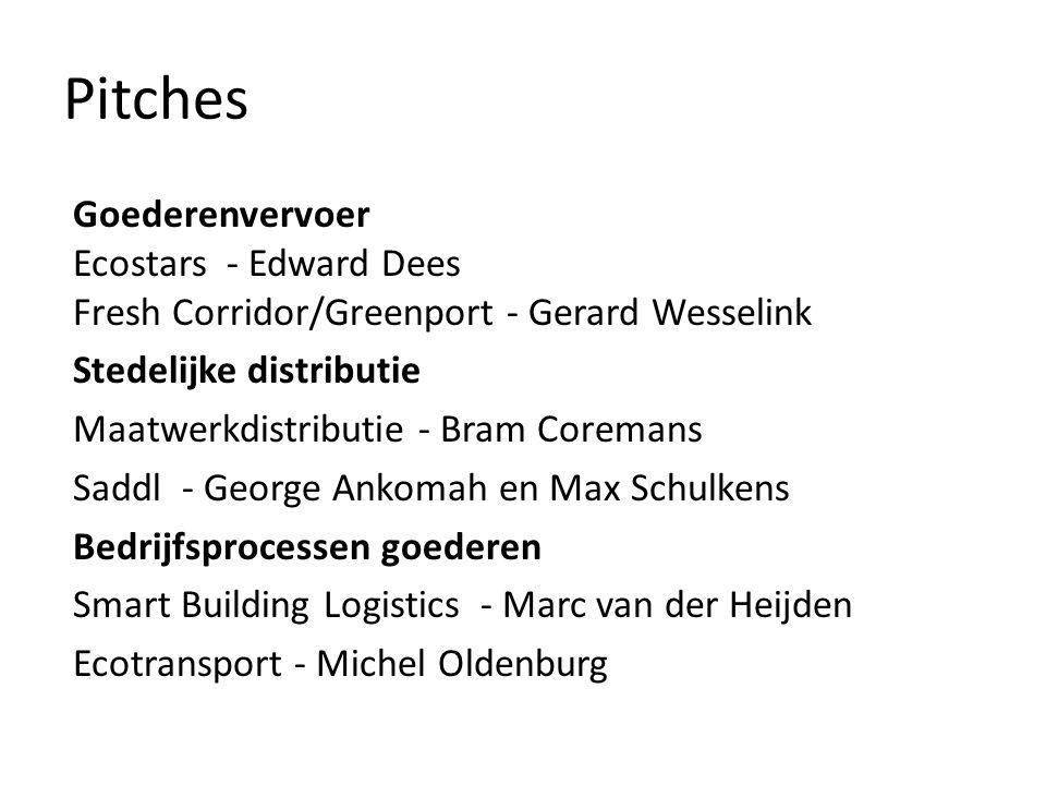 Pitches Goederenvervoer Ecostars - Edward Dees Fresh Corridor/Greenport - Gerard Wesselink. Stedelijke distributie.