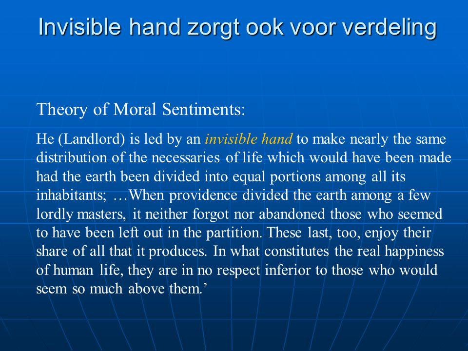 Invisible hand zorgt ook voor verdeling