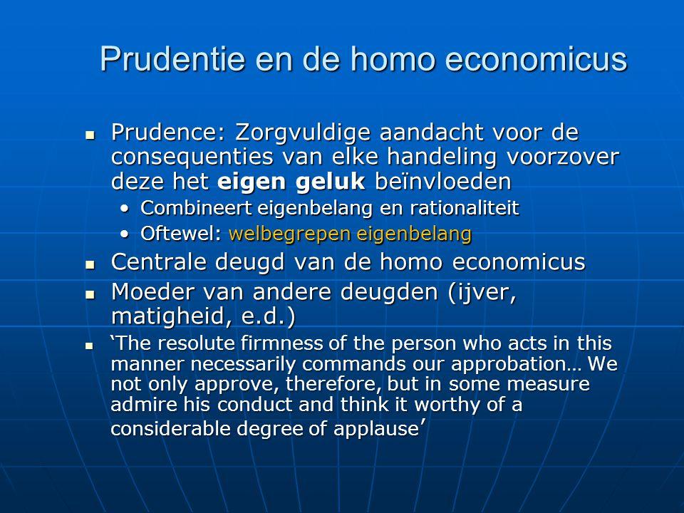 Prudentie en de homo economicus