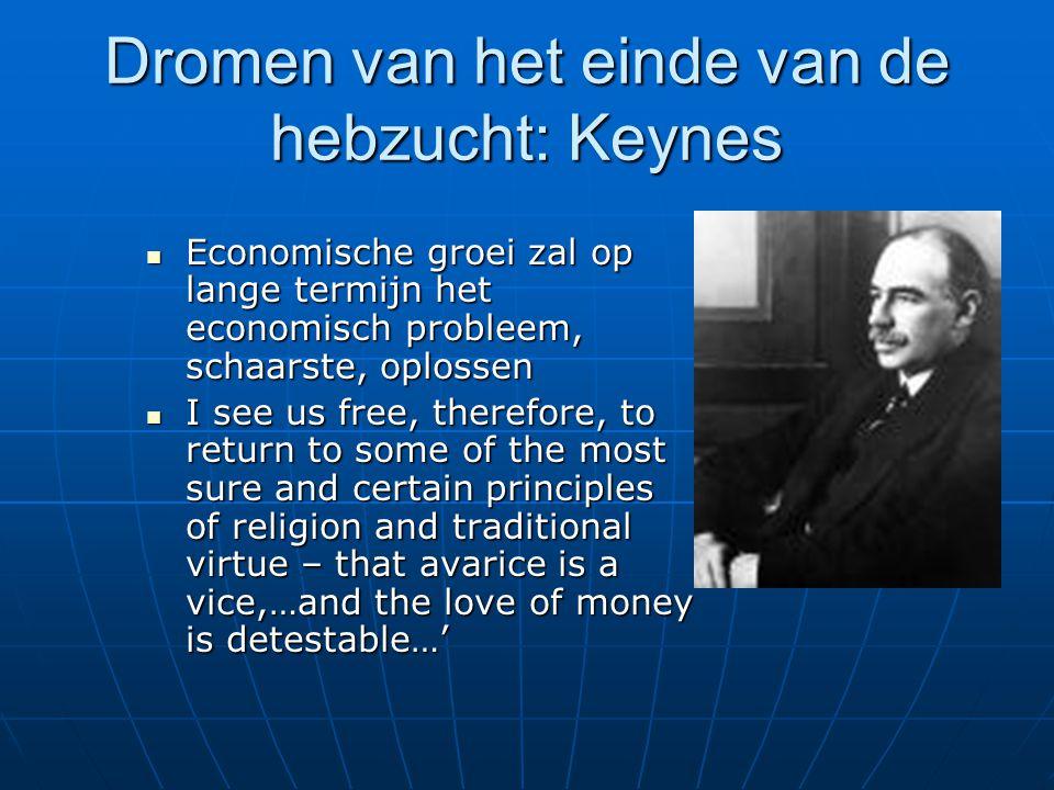 Dromen van het einde van de hebzucht: Keynes