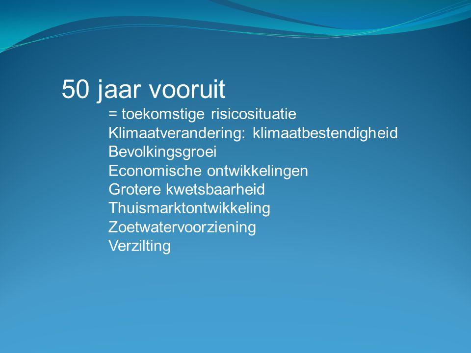50 jaar vooruit = toekomstige risicosituatie