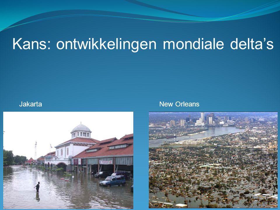Kans: ontwikkelingen mondiale delta's
