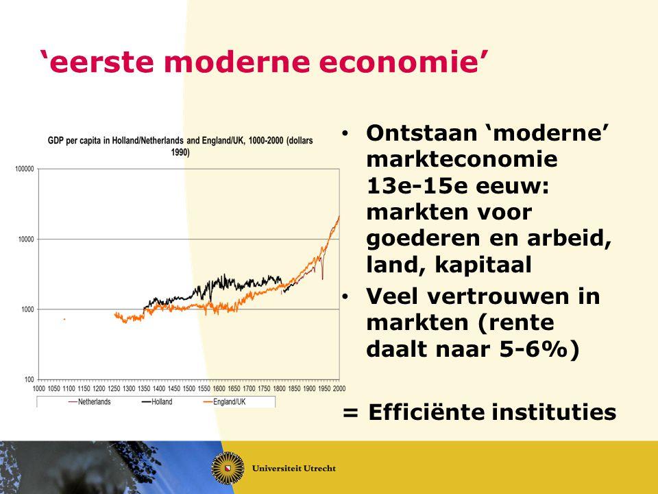 'eerste moderne economie'